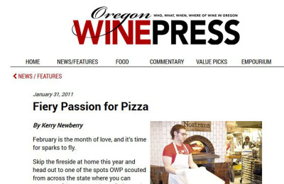 Fiery Passion for Pizza: Treat your lover to a hot night out at one of the many wood-fired restaurants heating up across Oregon