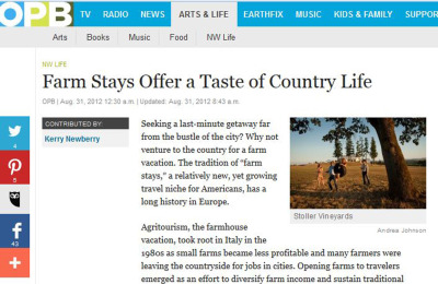 Farm Stays Offer a Taste of Country Life