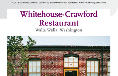 Restaurant Spotlight: Whitehouse-Crawford Restaurant, Walla Walla, Washington