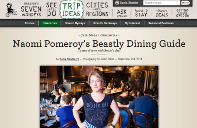 Naomi Pomeroy's Beastly Dining Guide