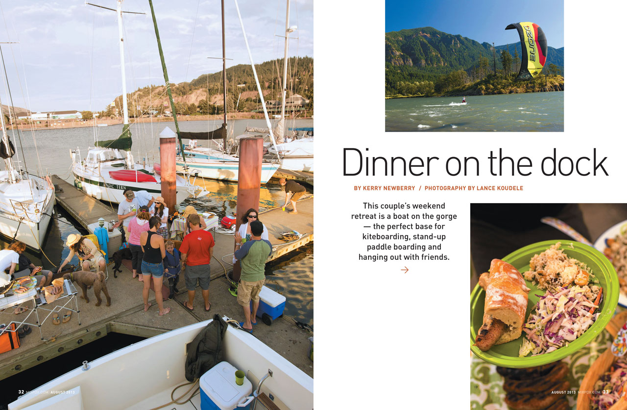 Get Together: Kiteboarding, boating, and barbecuing in the Gorge