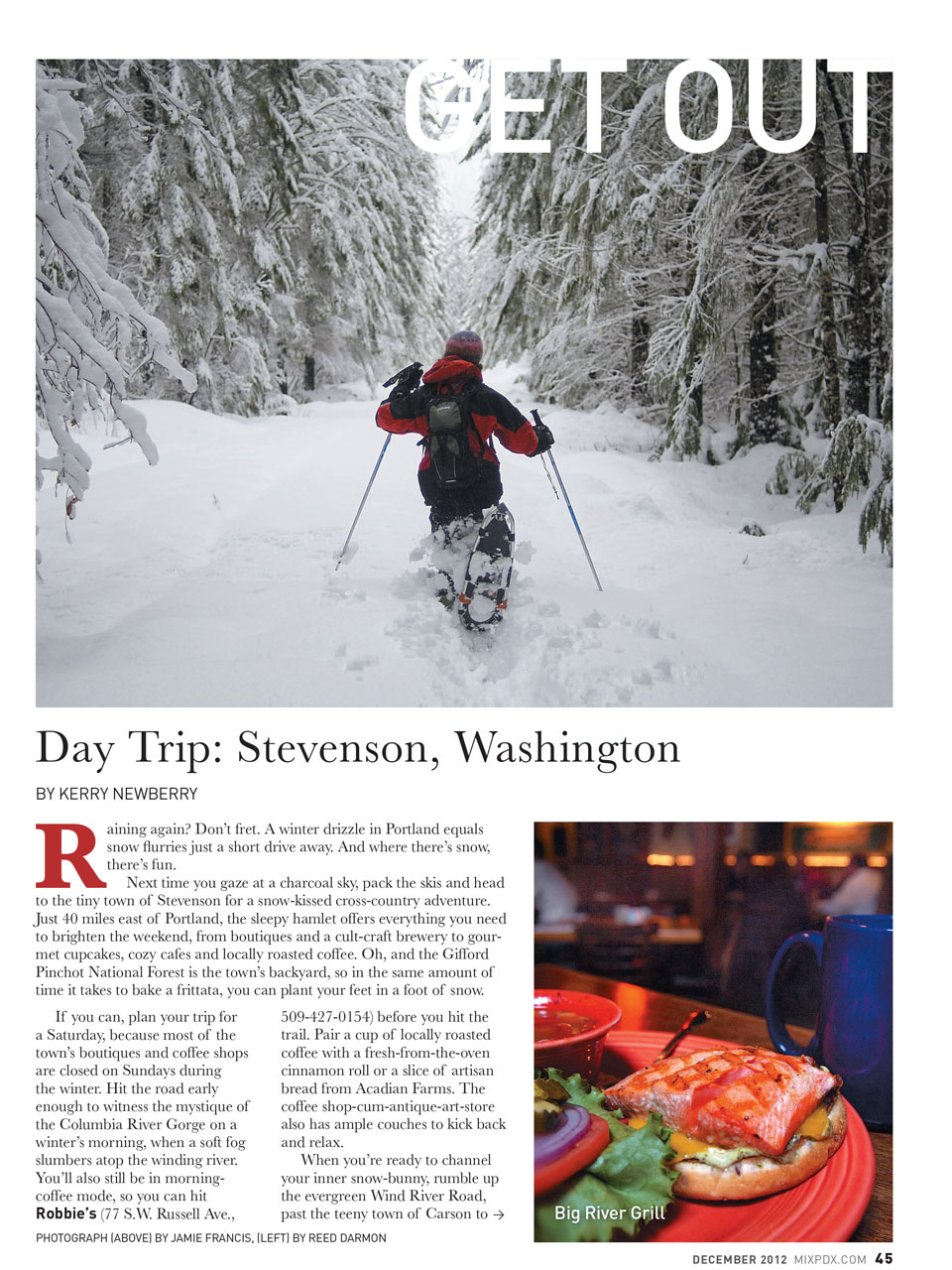 Dining in Stevenson | Washington in Winter: Snow-shoeing and Craft Beer