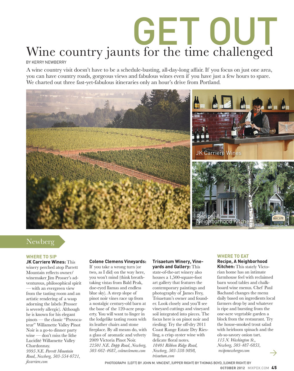 Wine Country Jaunts for the Time Challenged