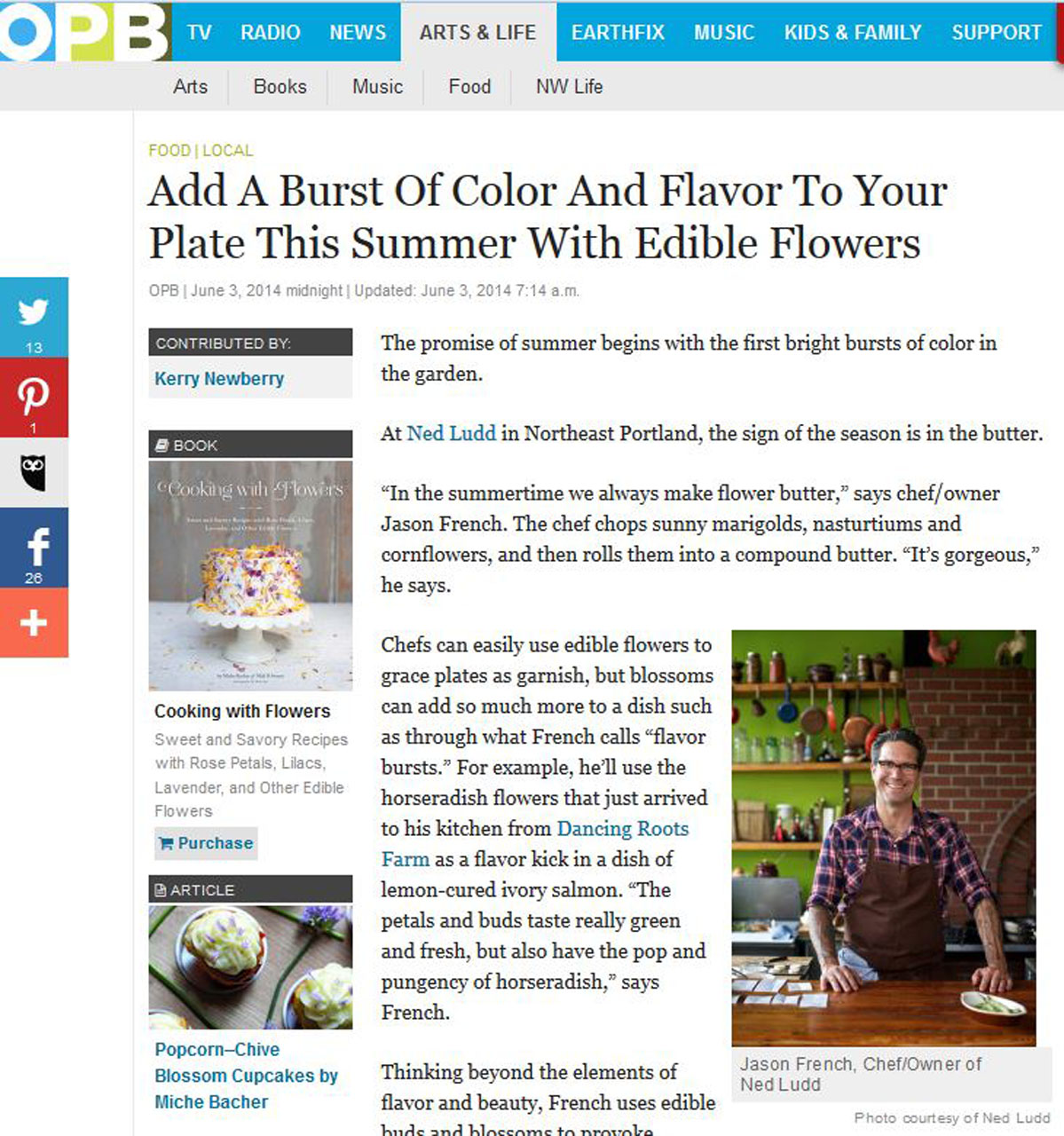 Add a burst of color and flavor to your plate this summer with edible flowers