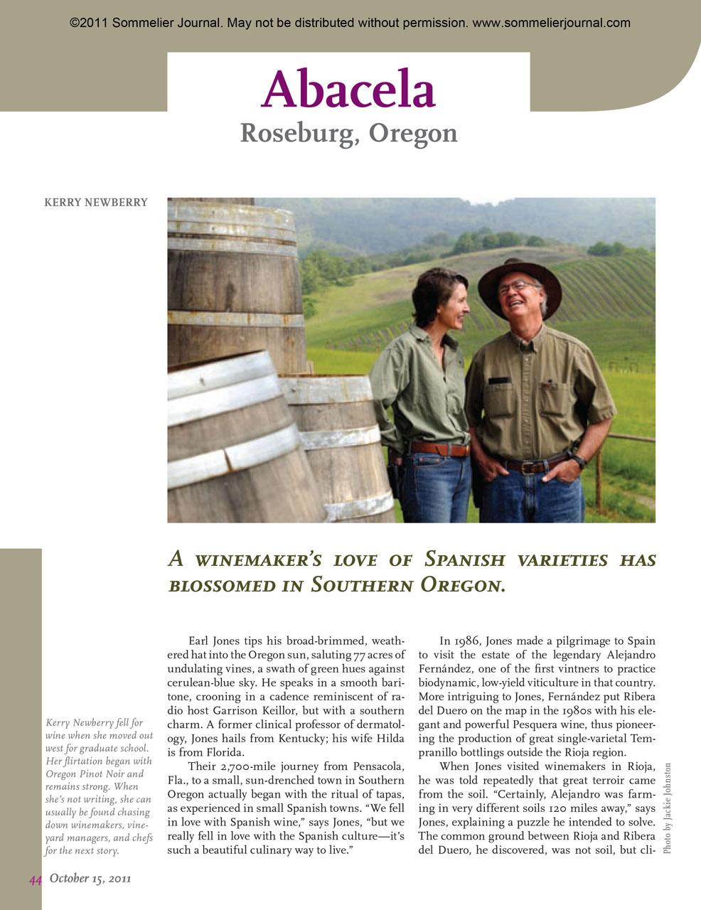 Winery Spotlight: Abacela, Roseburg, Oregon