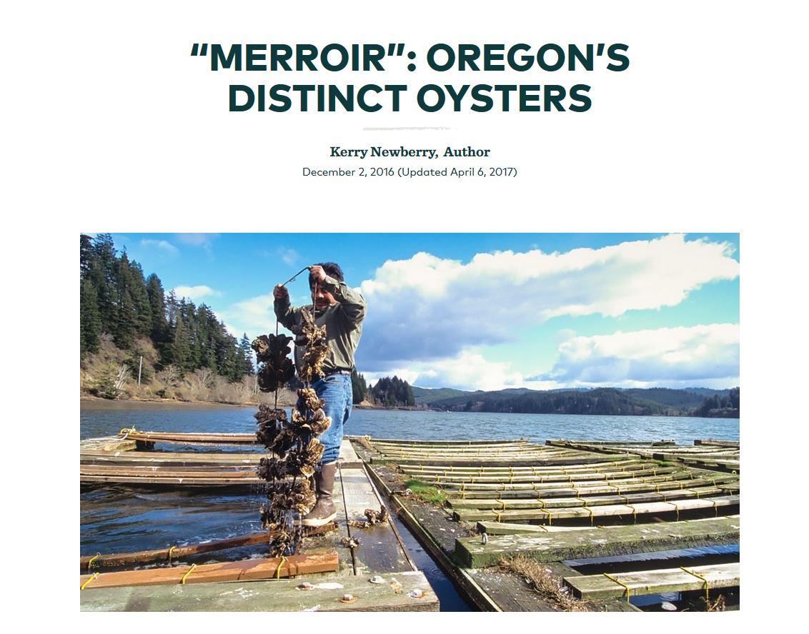 Merroir: Oregon's Distinct Oysters