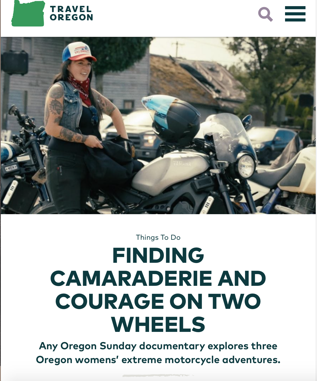 Finding Camaraderie and Courage on Two Wheels: Any Oregon Sunday documentary explores three Oregon womens' extreme motorcycle adventures
